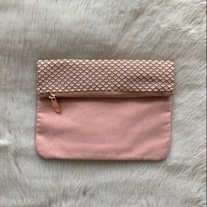 Pink Foldover Clutch
